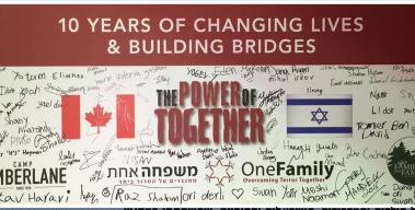"""מפגש שציין עשור של שותפות בין מחנה קיץ טימברליין בקנדה ל""""משפחה אחת"""""""