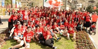 קבוצת משפחה אחת כובשת את מרתון ירושלים